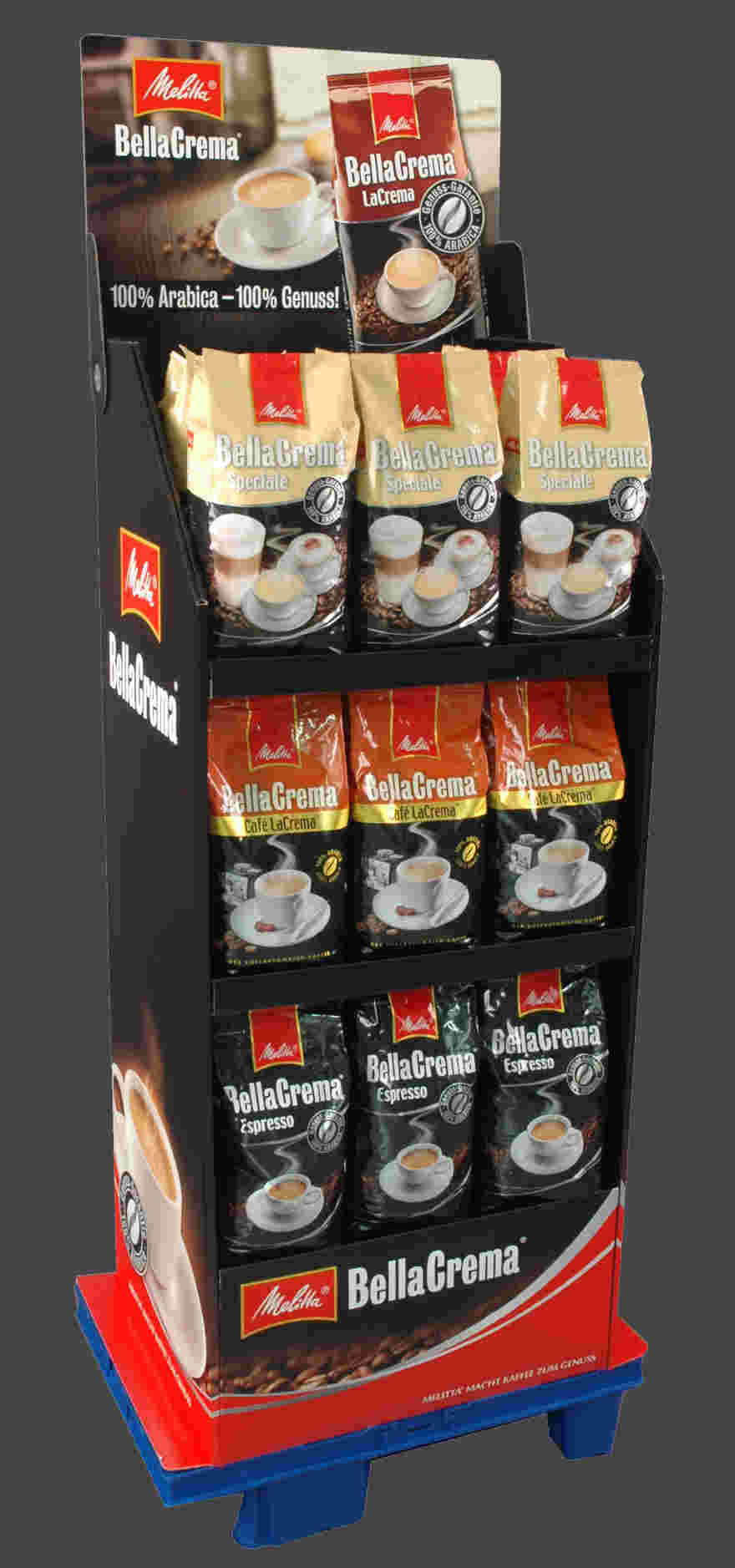 Display with adjustable shelves, KL Promotion, Bünde